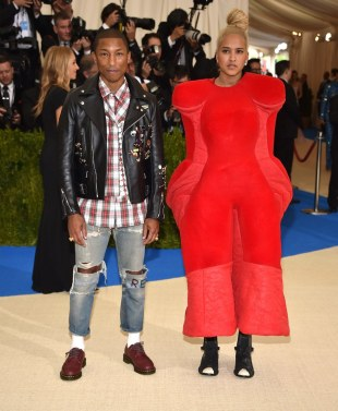 Pharrell Williams & Helen Lasichanh in Comme des Garcons